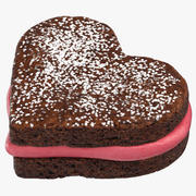 Heart Shaped Brownie 3d model