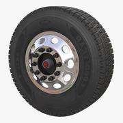 Truck Front Wheel 3D Model 3d model