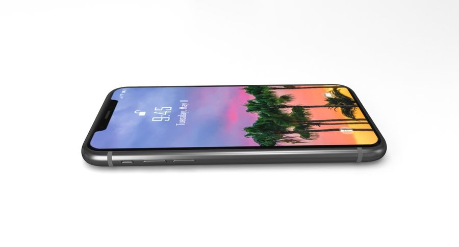 iPhone X royalty-free 3d model - Preview no. 3
