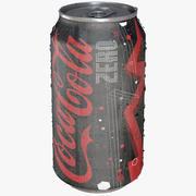 Coca Cola Zero Can Goutte Glacée 3d model