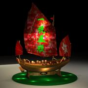 Chińska śmieciowa łódź 3d model