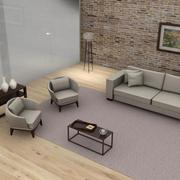 Pokój dzienny L036 3d model