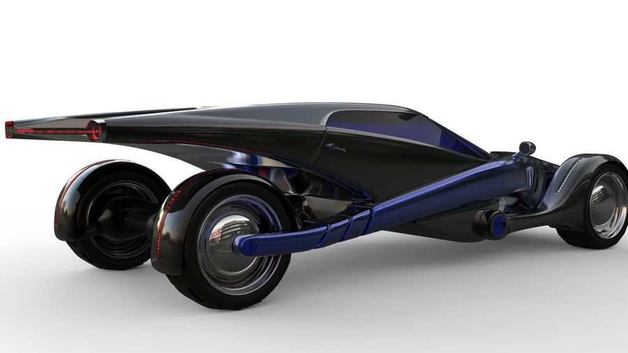 new Future car concept design royalty-free 3d model - Preview no. 5