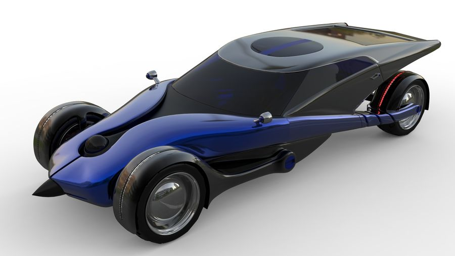 new Future car concept design royalty-free 3d model - Preview no. 8