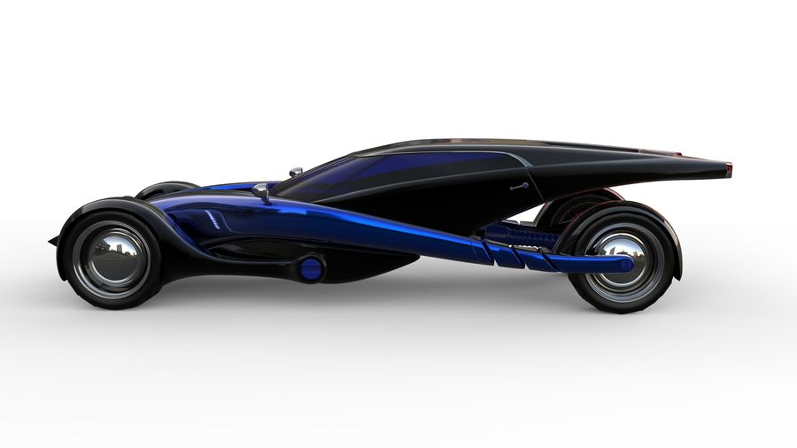 new Future car concept design royalty-free 3d model - Preview no. 2