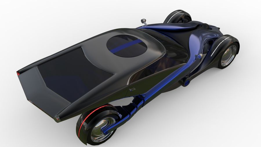new Future car concept design royalty-free 3d model - Preview no. 9