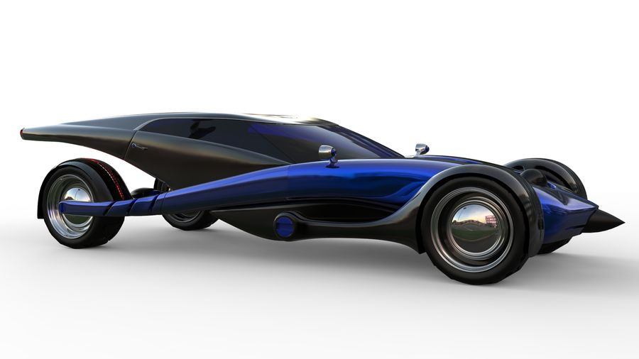 new Future car concept design royalty-free 3d model - Preview no. 6