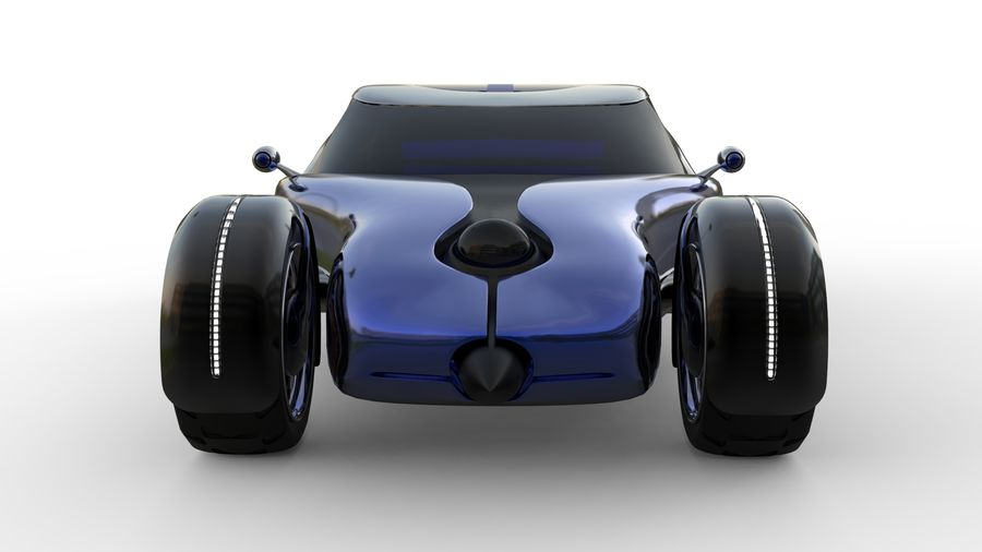 new Future car concept design royalty-free 3d model - Preview no. 7