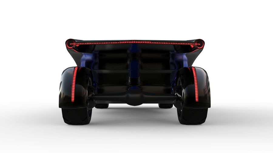 new Future car concept design royalty-free 3d model - Preview no. 4