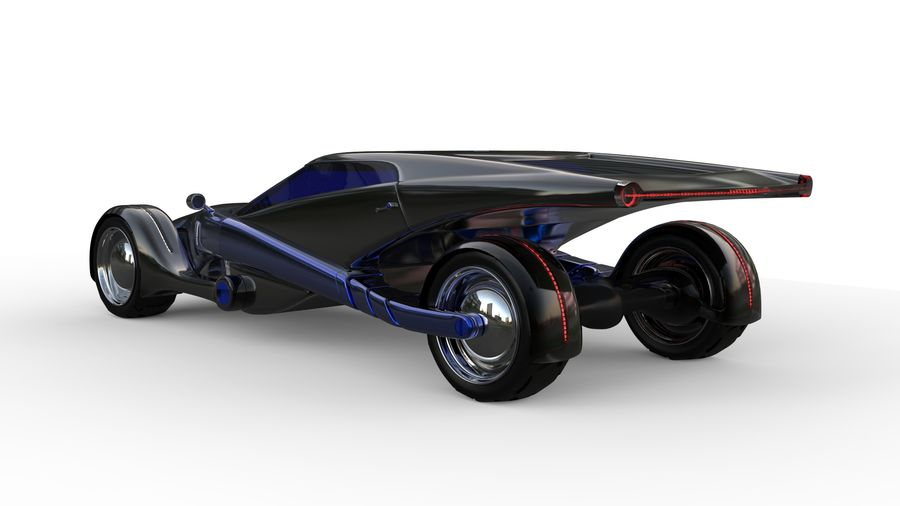 new Future car concept design royalty-free 3d model - Preview no. 3