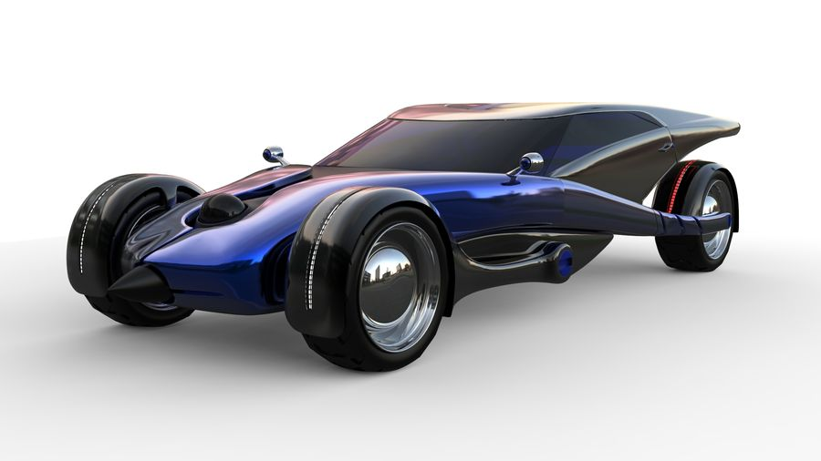 new Future car concept design royalty-free 3d model - Preview no. 1