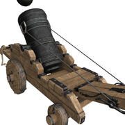Old Cannon Mortar 3d model