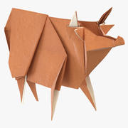 Cow Origami 3d model