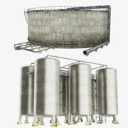 Oil Storage Tank Collection 3d model