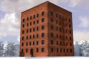 벽돌 건물 3d model