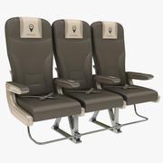 비행기 의자 3d model