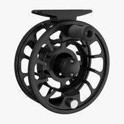 Fliegenrolle Schwarz 3d model