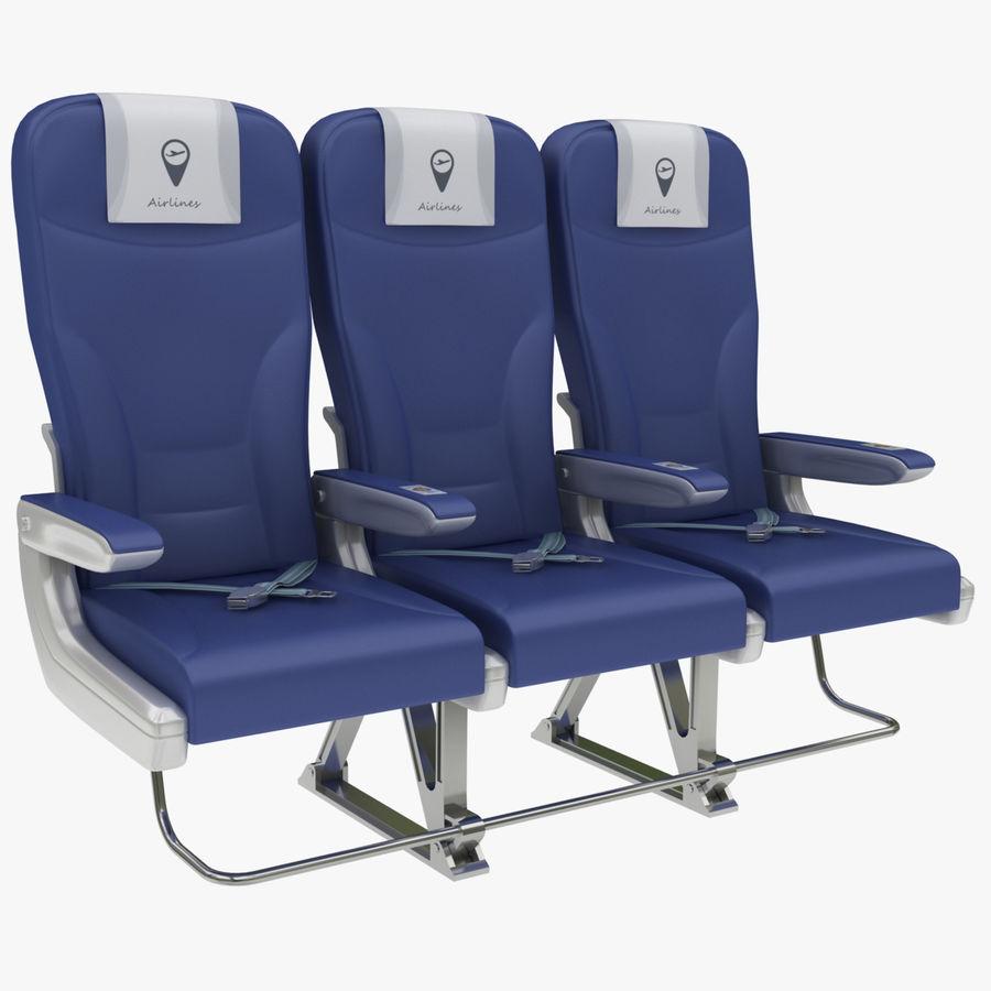 비행기 의자 2 royalty-free 3d model - Preview no. 1