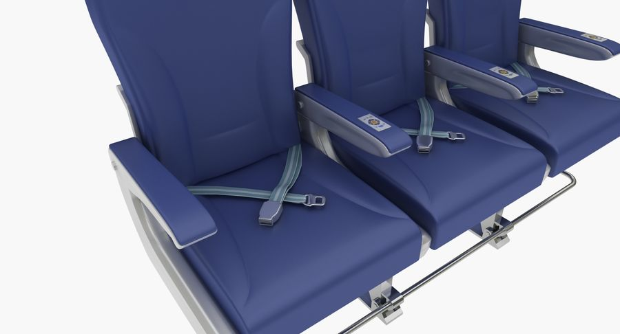 비행기 의자 2 royalty-free 3d model - Preview no. 4