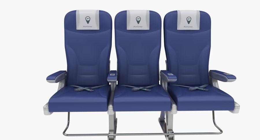 비행기 의자 2 royalty-free 3d model - Preview no. 5