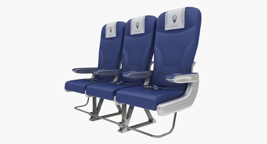 비행기 의자 2 royalty-free 3d model - Preview no. 3