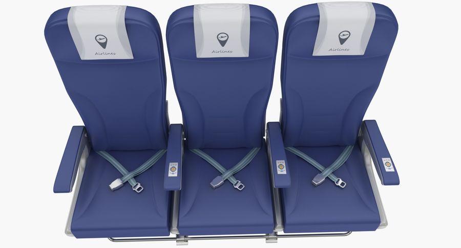 비행기 의자 2 royalty-free 3d model - Preview no. 8