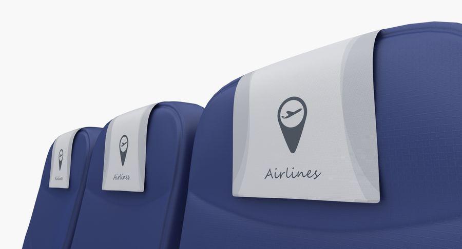 비행기 의자 2 royalty-free 3d model - Preview no. 7