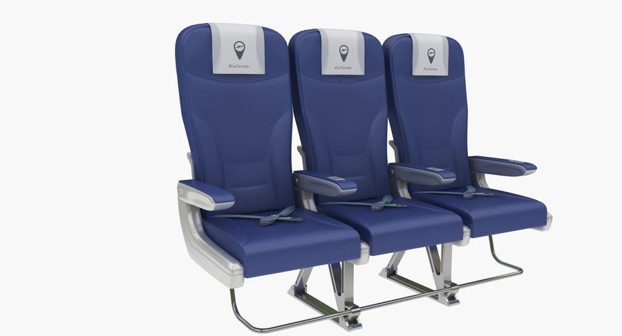 비행기 의자 2 royalty-free 3d model - Preview no. 2