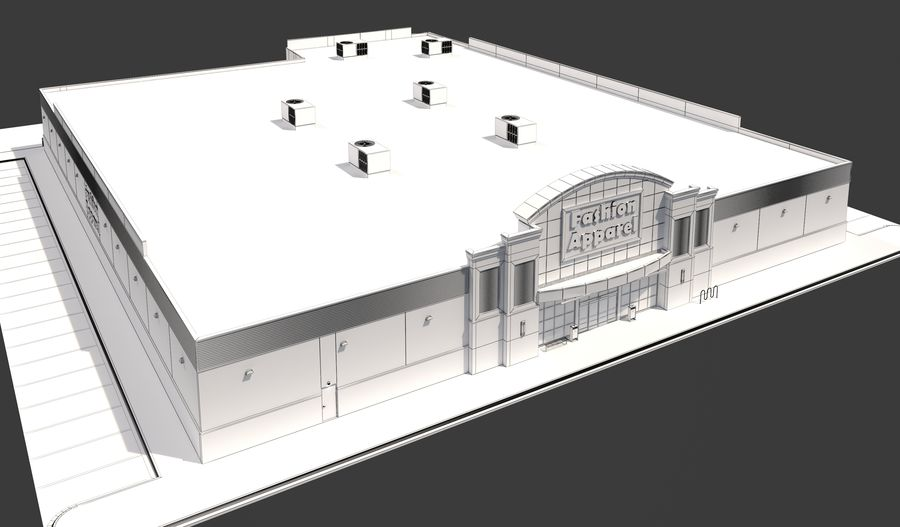 Retail-060 Retail Store royalty-free 3d model - Preview no. 18