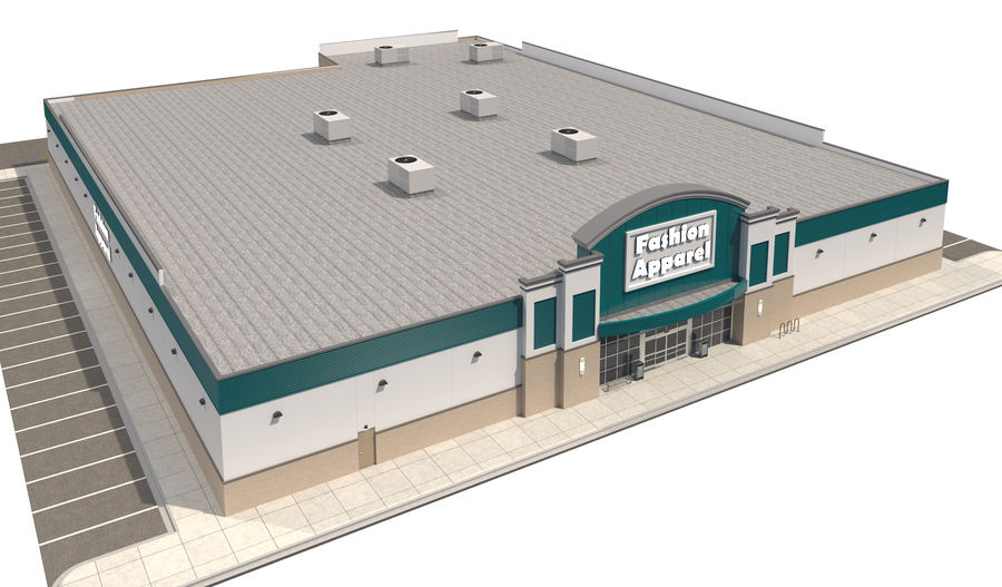 Retail-060 Retail Store royalty-free 3d model - Preview no. 7
