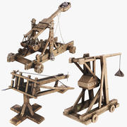 Siege Weapons Asset x3 3d model