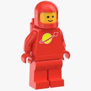 Lego Man Astronaut 02 3d model
