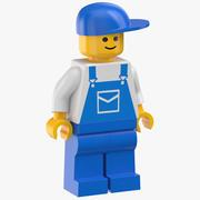 Mécanicien Lego Man 3d model