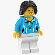 Lego Woman Gym Teacher 01 3d model