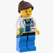 Lego Vrouw Wetenschapper 3d model