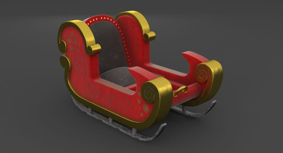 クリスマスそり royalty-free 3d model - Preview no. 3
