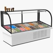 アイスクリームの表示フリーザー 3d model