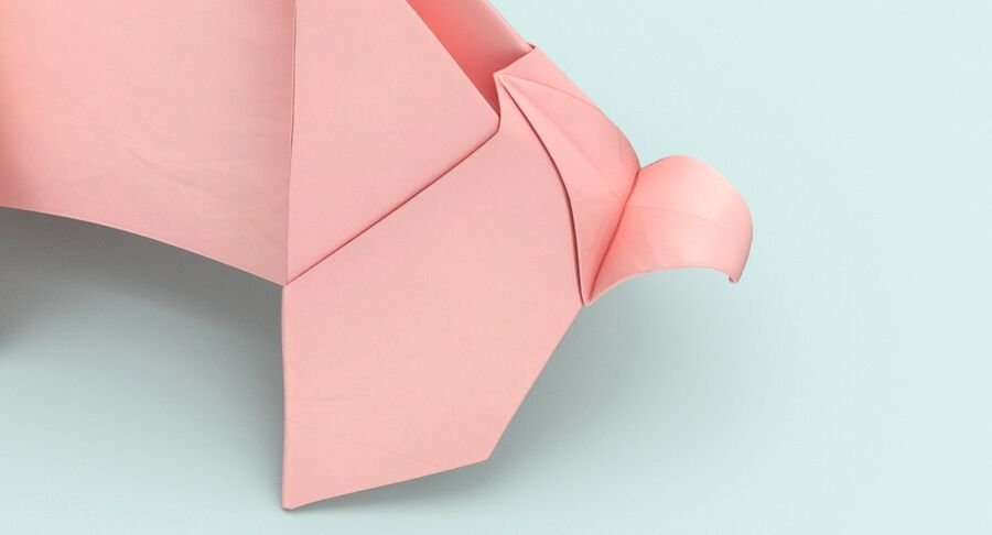 Origami Pig royalty-free 3d model - Preview no. 10