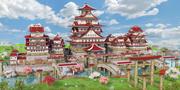 Fantasy Asian Castle 3d model