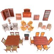 европейская коллекция антикварной мебели 3d model