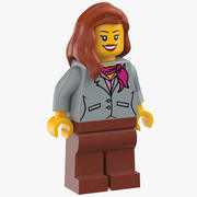 Lego Vrouw Stewardess 3d model