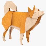 Origami van de hond 3d model