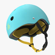 Skate Helmet Blue 3d model