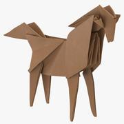 Cavallo Origami 3d model