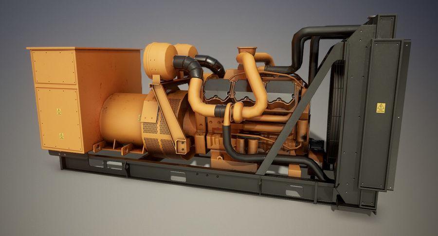 Diesel Generator royalty-free 3d model - Preview no. 5