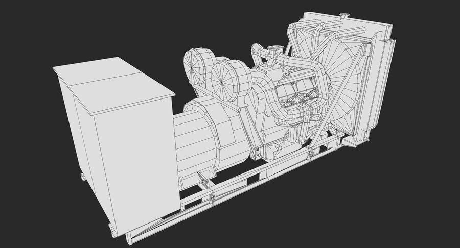 Diesel Generator royalty-free 3d model - Preview no. 8