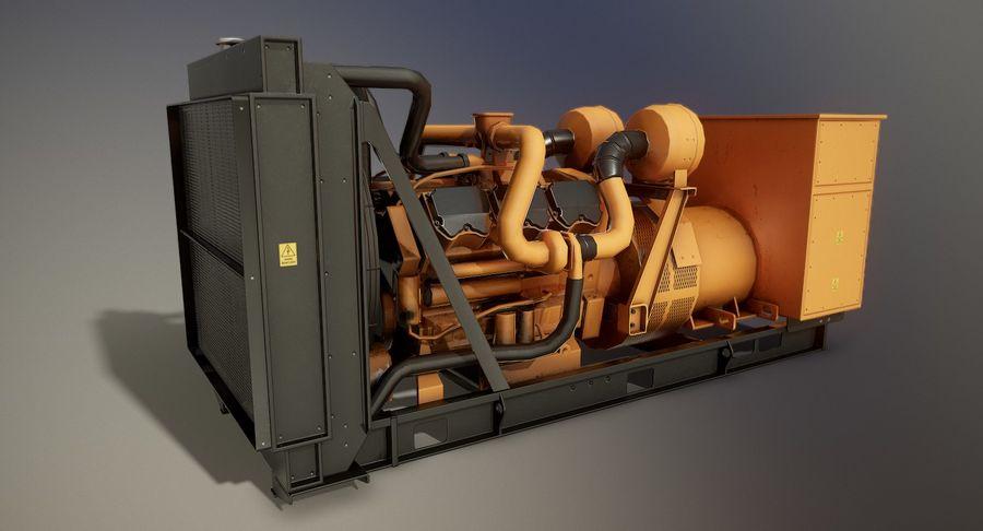 Diesel Generator royalty-free 3d model - Preview no. 4