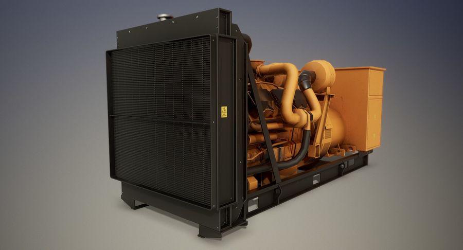 Diesel Generator royalty-free 3d model - Preview no. 6
