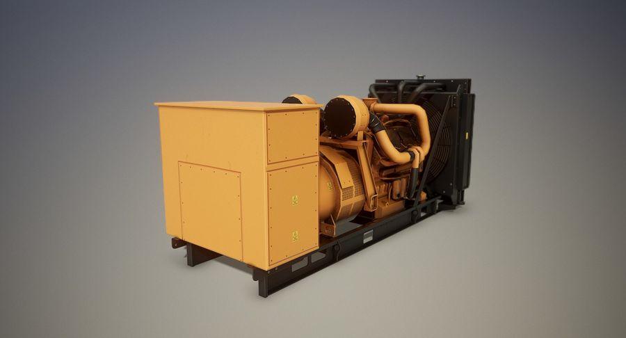 Diesel Generator royalty-free 3d model - Preview no. 2