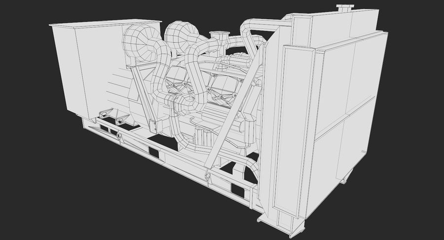Diesel Generator royalty-free 3d model - Preview no. 9